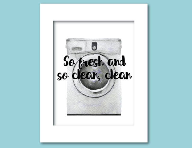 So Fresh and So Clean, Clean Free Printable