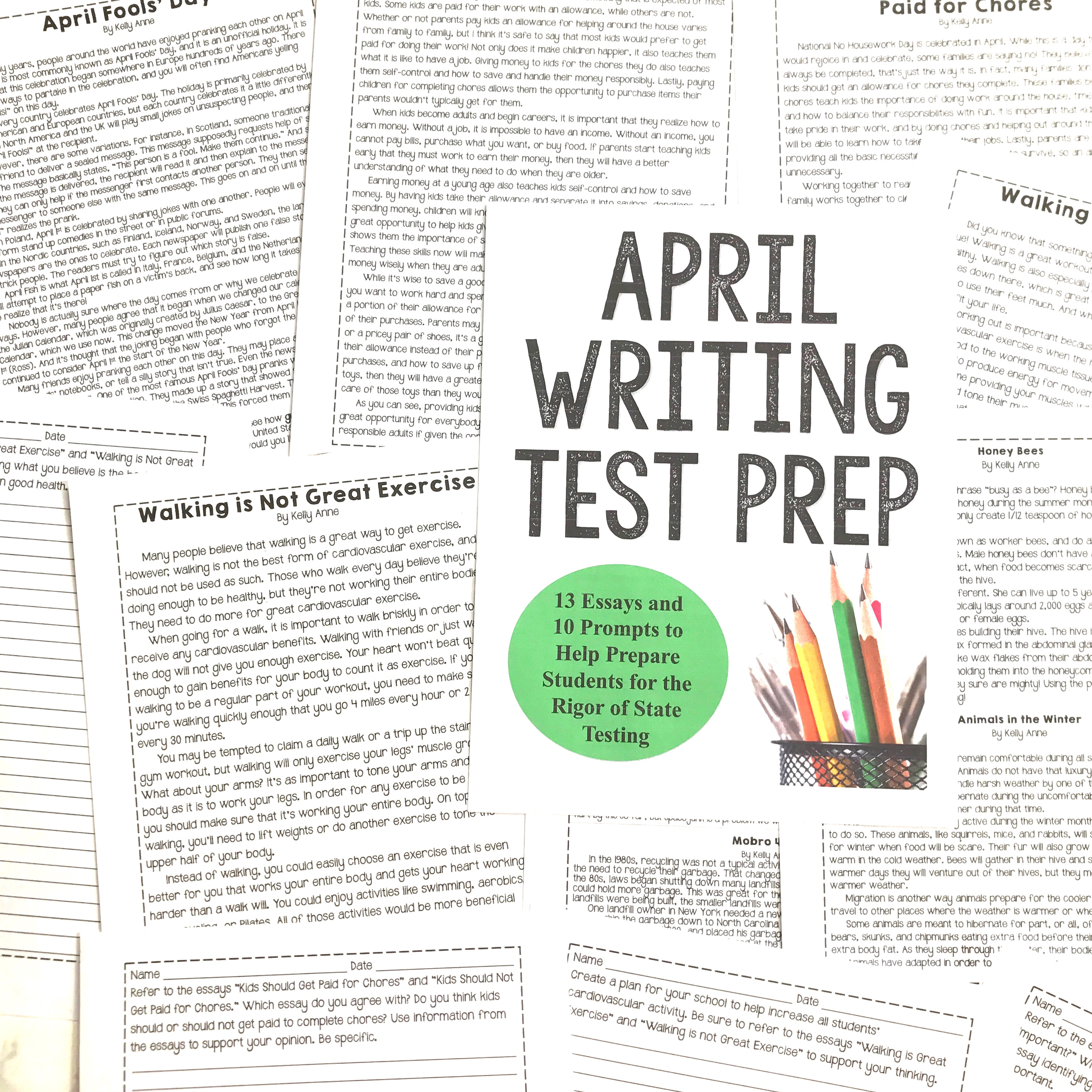 April Writing Test Prep