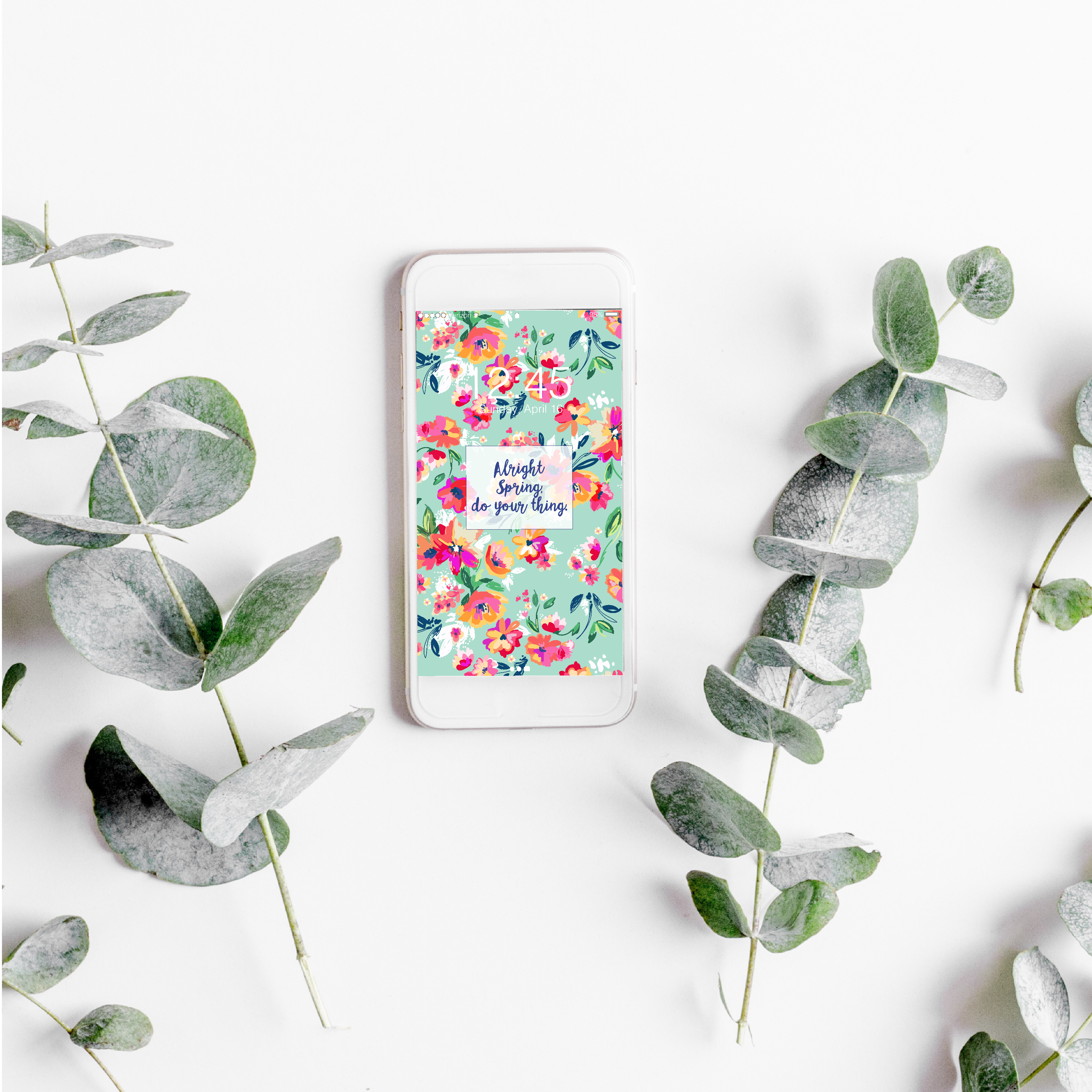 Alright Spring, Do Your Thing – Weekly Inspiration Phone Wallpaper