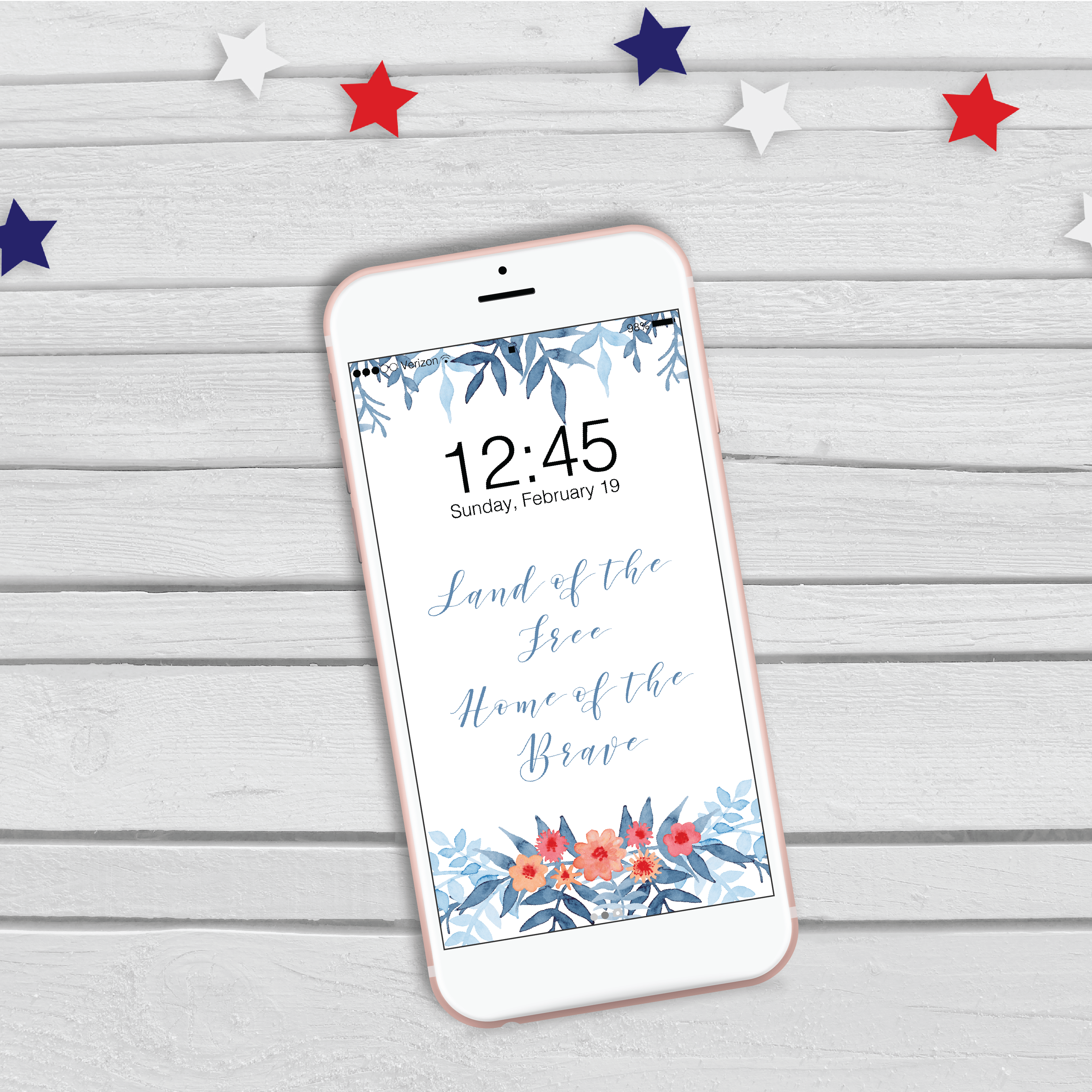 Patriotic Phone Wallpaper Freebie – Weekly Inspiration