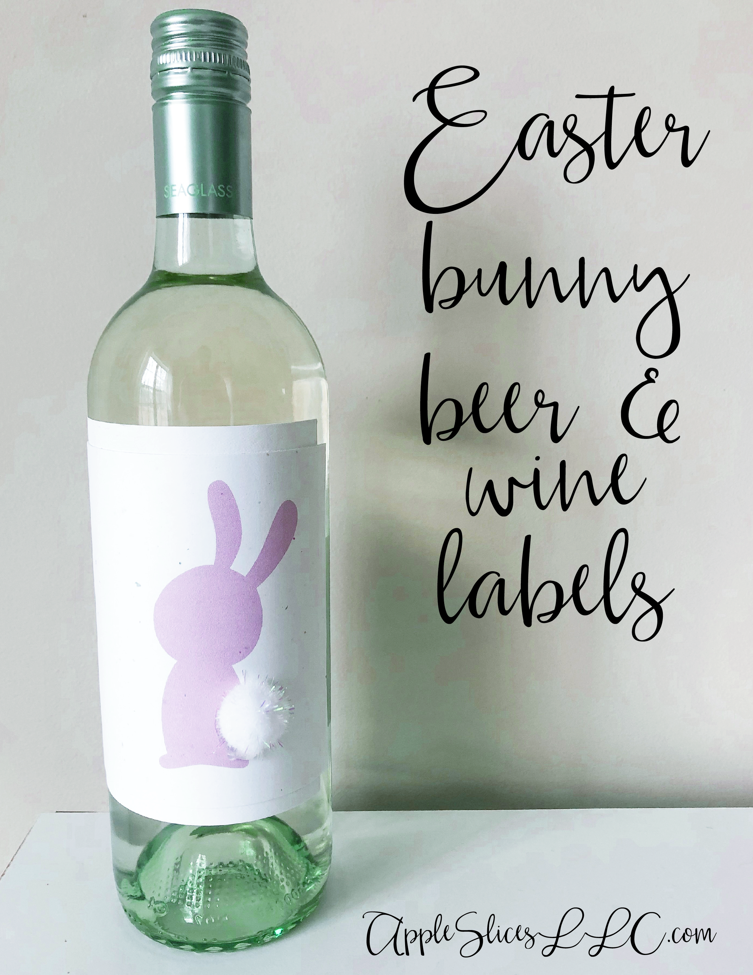 Easter Bunny and Spring Themed Wine Bottles