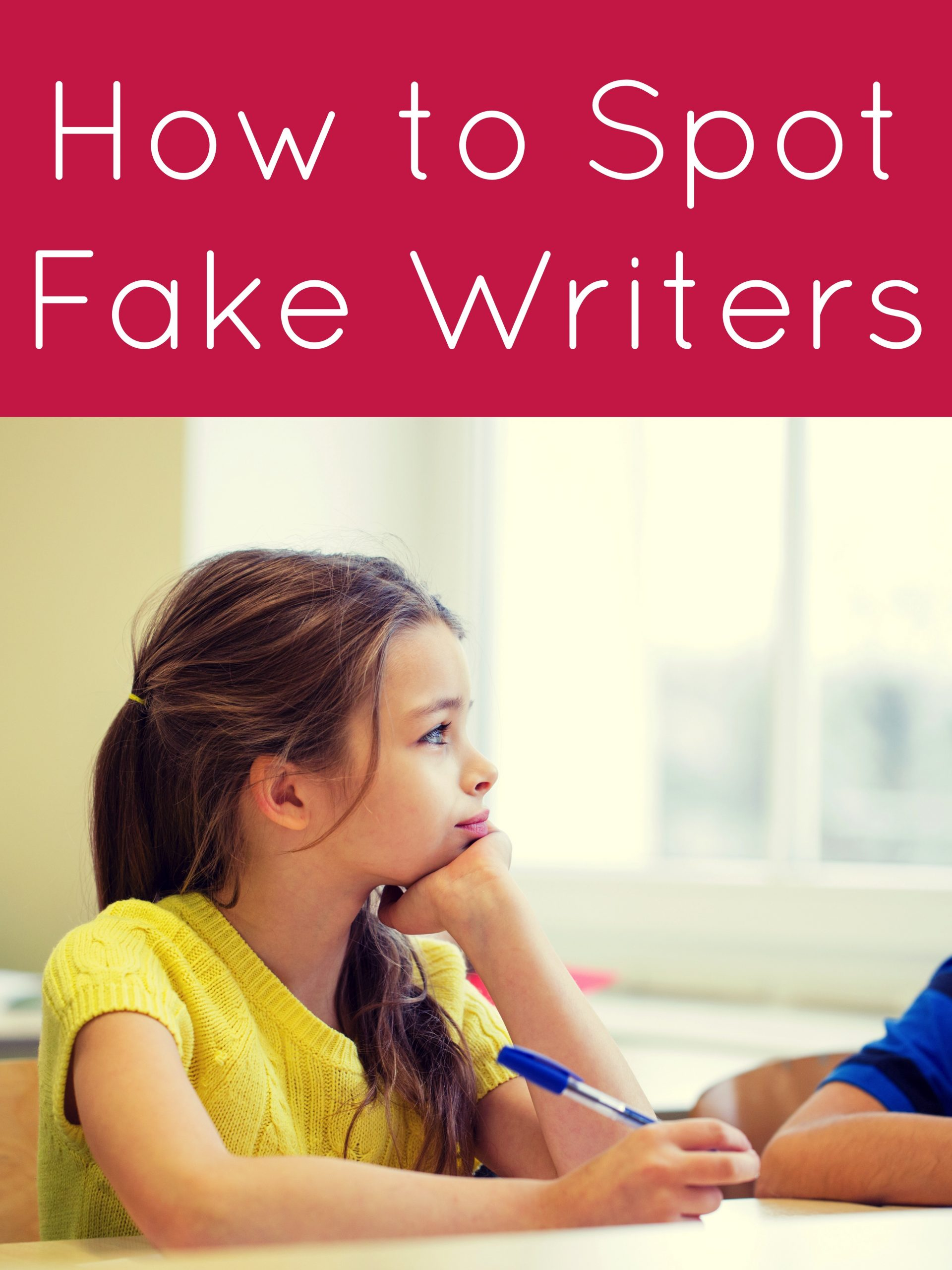 How to Spot Fake Writers