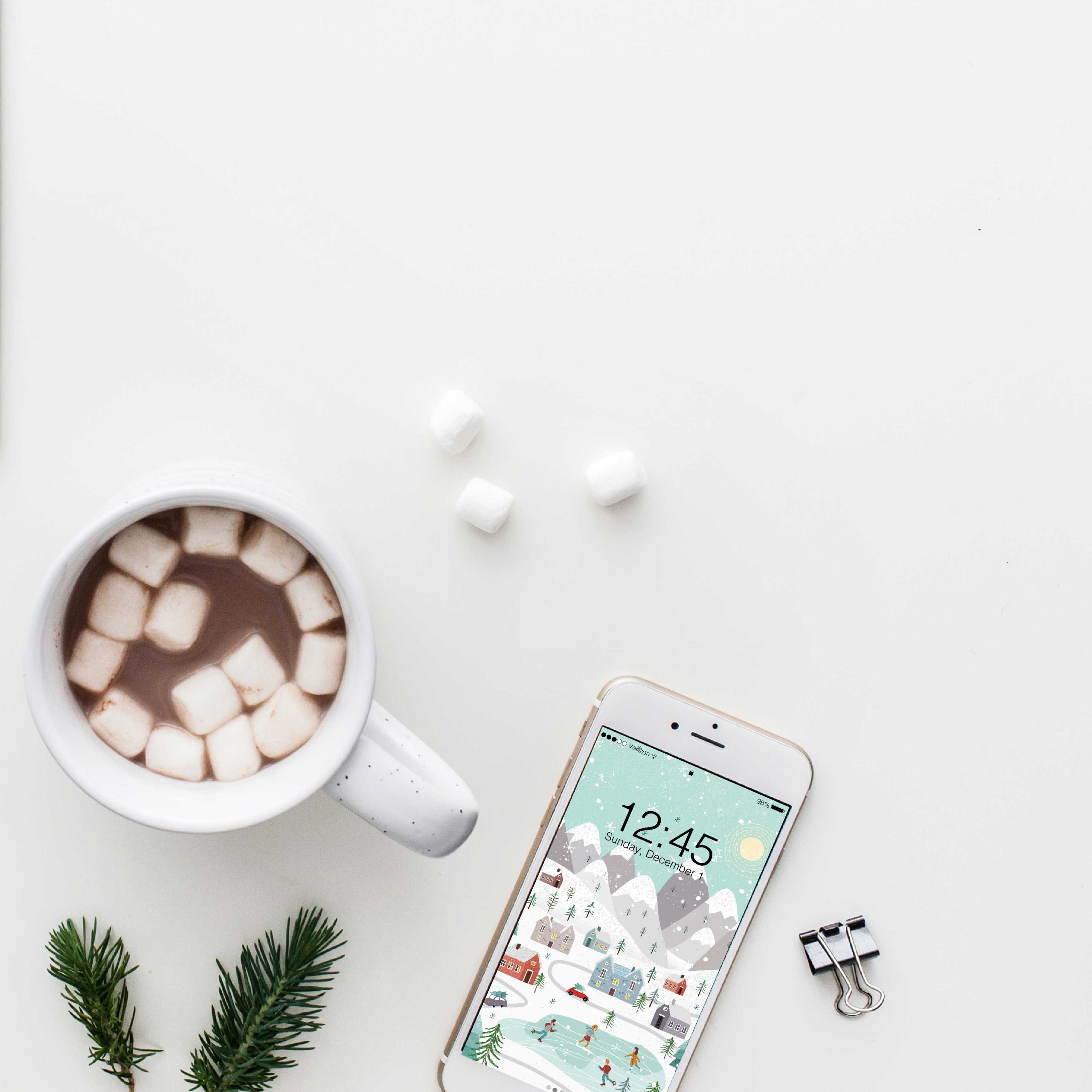 Winter Holiday Free Phone Wallpaper | Weekly Inspiration