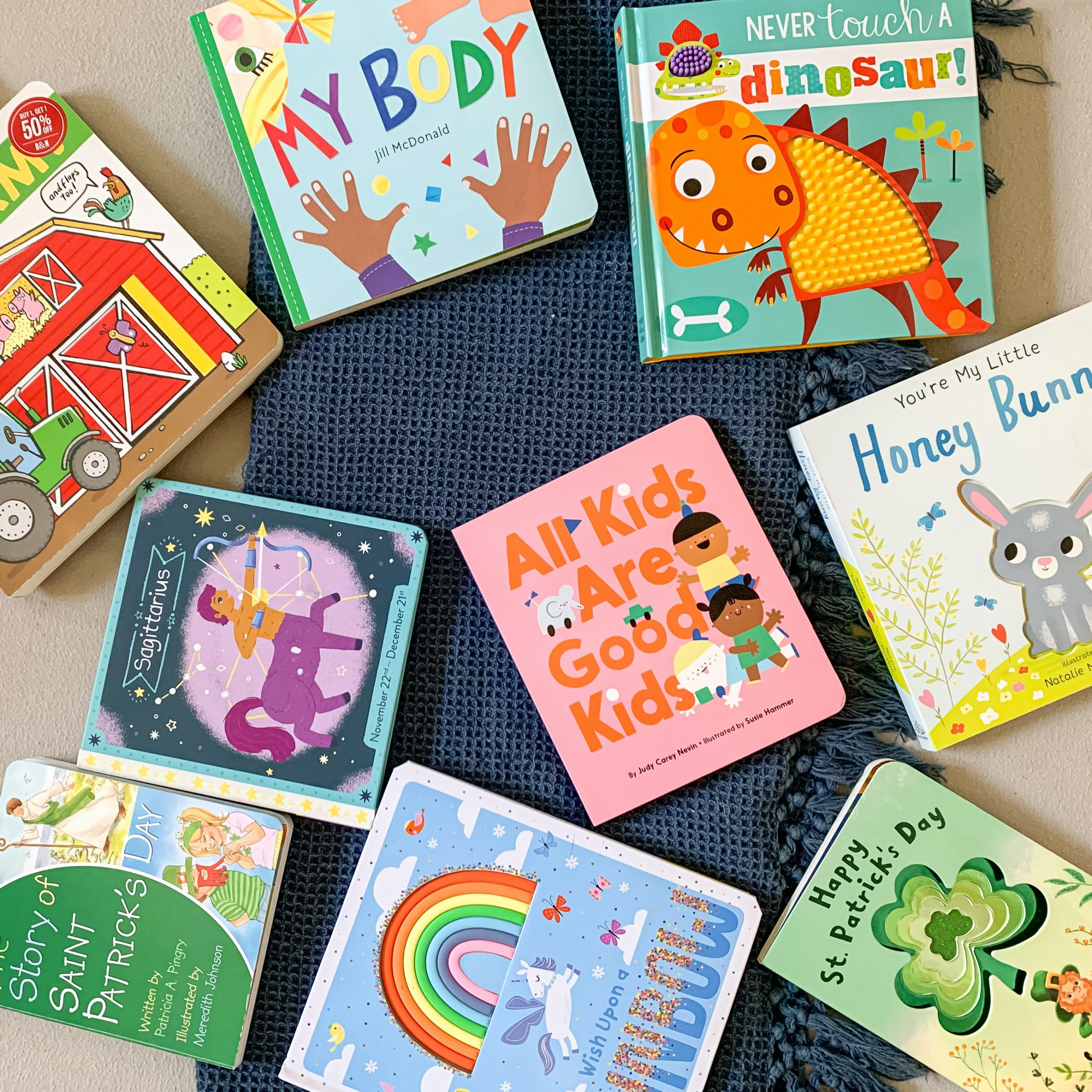 12 March Themed Board Books for One-Year-Olds