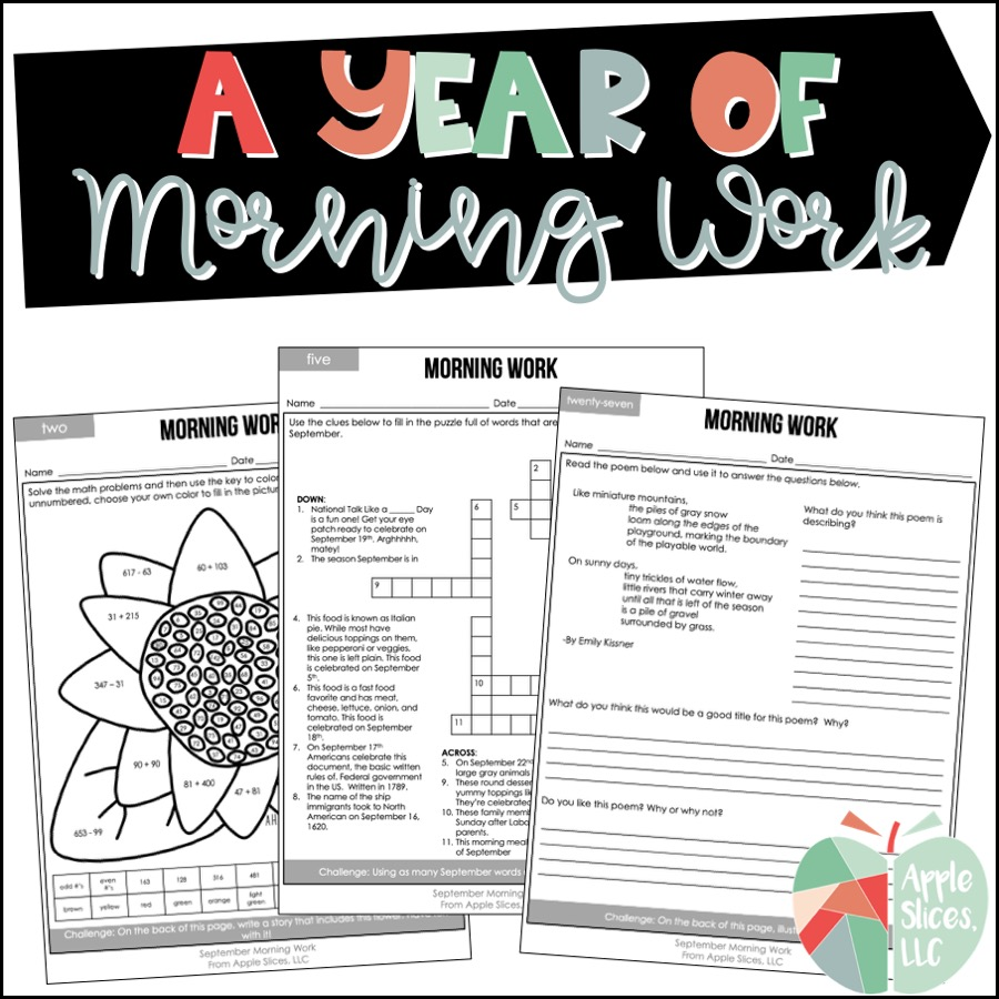 Morning Work for Upper Elementary | ELA and Math Review