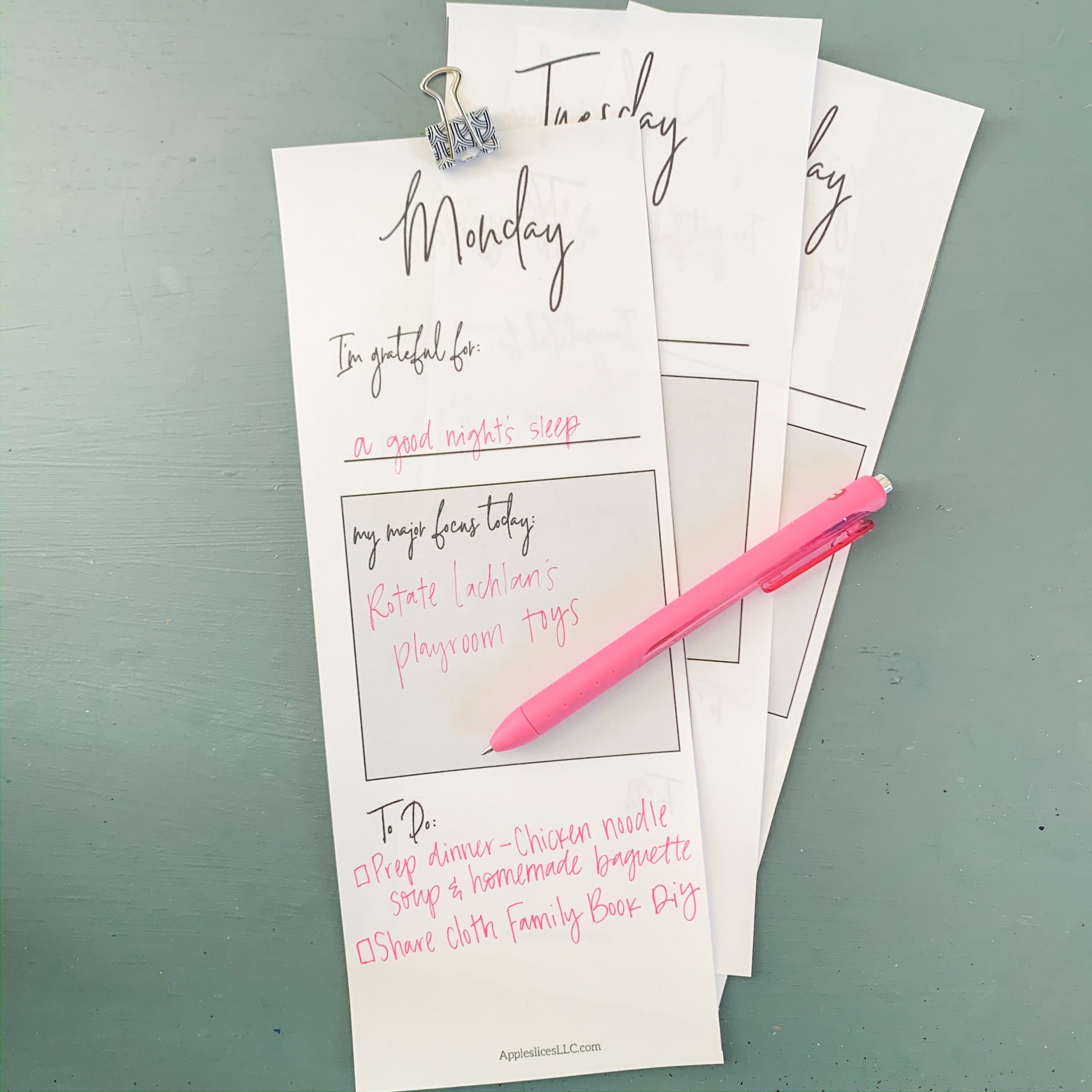 Free Daily Printable Schedule | Editable in Google Slides